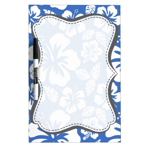 Hibisco tropical del azul cerúleo pizarras blancas de calidad