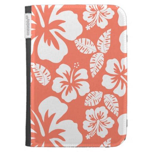 Hibisco tropical del color coralino
