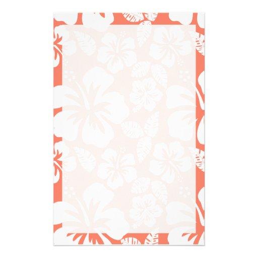 Hibisco tropical del color coralino papeleria