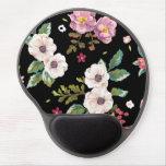 Hibisco tropical elegante del vintage floral alfombrillas con gel