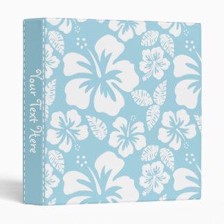 Hibisco tropical hawaiano azul claro