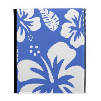 Hibisco tropical hawaiano azul de Han