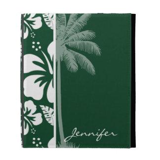 Hibisco tropical hawaiano de Forest Green; Palma