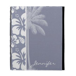 Hibisco tropical hawaiano Gris-Azul; Palma
