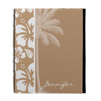 Hibisco tropical hawaiano marrón claro; Palma