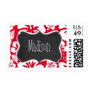 Hibisco tropical rojo del cadmio; Pizarra Envio