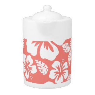 Hibisco tropical rosado coralino