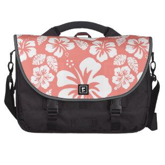 Hibisco tropical rosado coralino bolsas de portátil