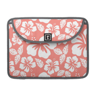 Hibisco tropical rosado coralino funda macbook pro