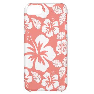 Hibisco tropical rosado coralino funda para iPhone 5C