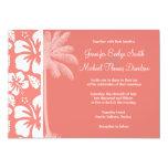 Hibisco tropical rosado coralino; Palma del verano Comunicados
