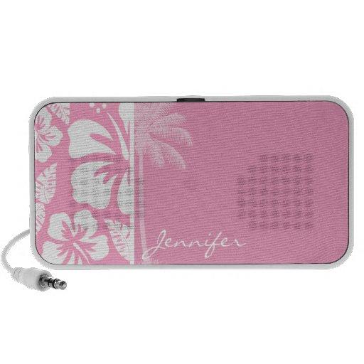 Hibisco tropical rosado del clavel; Palma del vera iPod Altavoces
