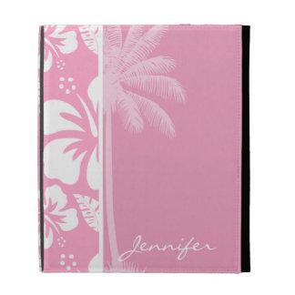 Hibisco tropical rosado del clavel; Palma del vera