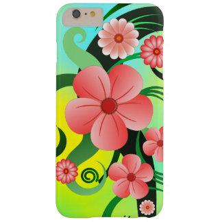 Hibisco tropical rosado iPhone6 delgado floral 6S Funda Barely There iPhone 6 Plus
