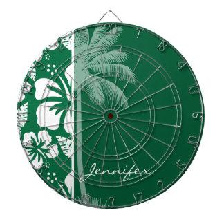 Hibisco tropical verde del cadmio; Palma