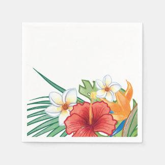 Hibisco tropical y Plumeria del verano Servilleta De Papel