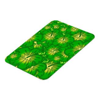 Hibisco verde imanes rectangulares