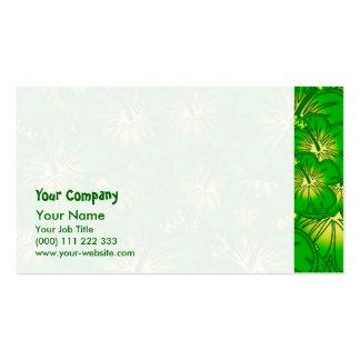 Hibisco verde tarjeta de visita
