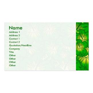 Hibisco verde tarjeta de negocio