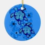 Hibisco y tortugas azules de Honu Adorno