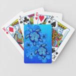 Hibisco y tortugas azules de Honu Baraja Cartas De Poker