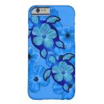 Hibisco y tortugas azules de Honu Funda Barely There iPhone 6