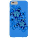 Hibisco y tortugas azules de Honu Funda Barely There iPhone 6 Plus
