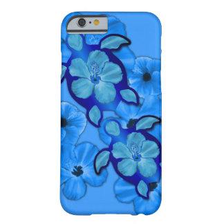 Hibisco y tortugas azules de Honu Funda De iPhone 6 Barely There