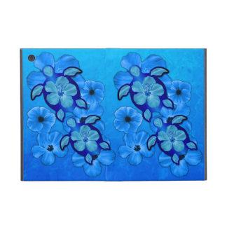 Hibisco y tortugas azules de Honu iPad Mini Cárcasas