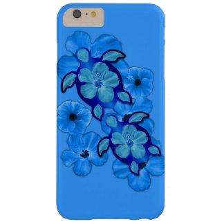 Hibisco y tortugas azules de Honu Funda Para iPhone 6 Plus Barely There