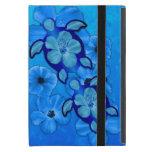 Hibisco y tortugas azules de Honu iPad Mini Fundas