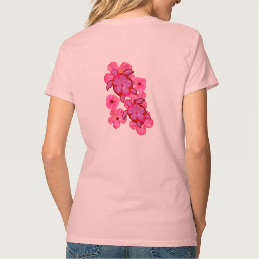 Hibisco y tortugas rosados de Honu Camisetas
