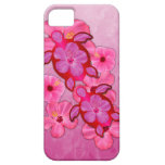 Hibisco y tortugas rosados de Honu iPhone 5 Case-Mate Funda