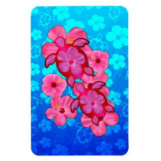 Hibisco y tortugas rosados de Honu Iman Flexible