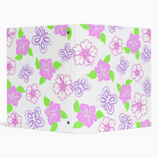 hibiscous butterfly 3 ring binder