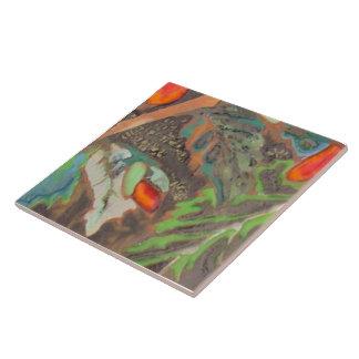 Hibiscus 10 of 12 ceramic tiles