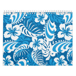 Hibiscus abstract floral calendar