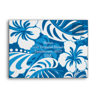 Hibiscus abstract floral envelope