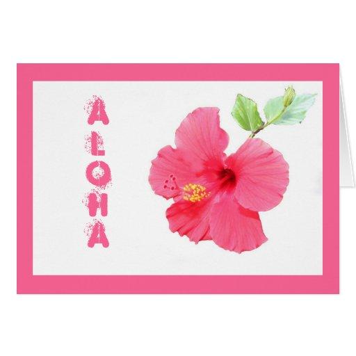 Hibiscus Aloha Customizable Greeting Card