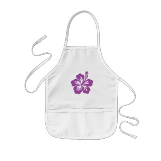 hibiscus aloha flower kids' apron