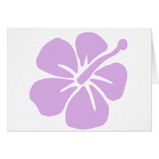 hibiscus aloha flower lavender card