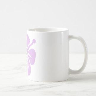 hibiscus aloha flower lavender coffee mug
