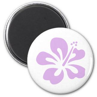 hibiscus aloha flower lavender magnet