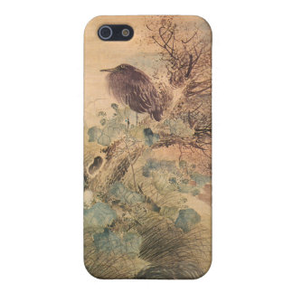 Hibiscus and Blue Heron iPhone SE/5/5s Cover