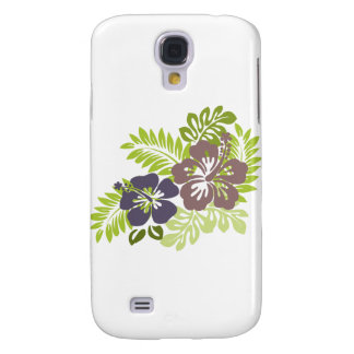 Hibiscus and Leaves Design Galaxy S4 Cases