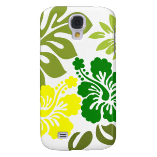 Hibiscus and Leaves Hawaii gifts Galaxy S4 Case
