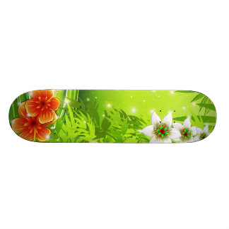 Hibiscus and Passion Flowers Skateboard