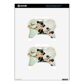 Hibiscus and Sparrow by Katsushika Hokusai Xbox 360 Controller Decal