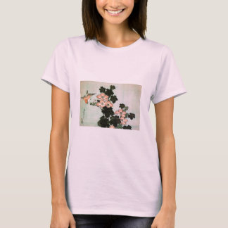 Hibiscus and Sparrow T-Shirt