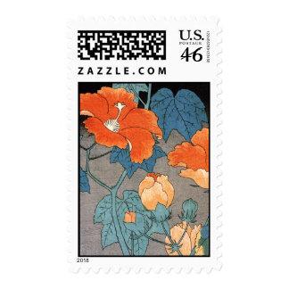 Hibiscus Ando Hiroshige Stamps
